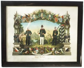 Jager Bat No 8 Lauenburgsch Regimental Certificate