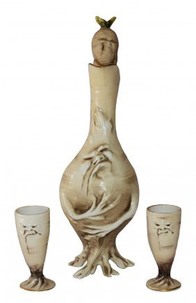 Schierholz Sad Radish Schnapps Set Decanter & Cups