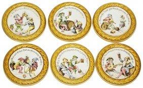 Drinking Dwarfs Set Of Six Mettlach Coasters