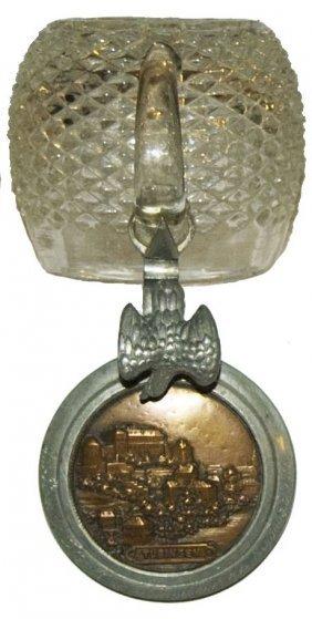 Hobnail Glass Stein W Copper Inlay Lid Of Tubingen