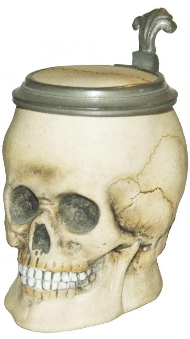 Bohne Porcelain Skull Character Stein 1/4L