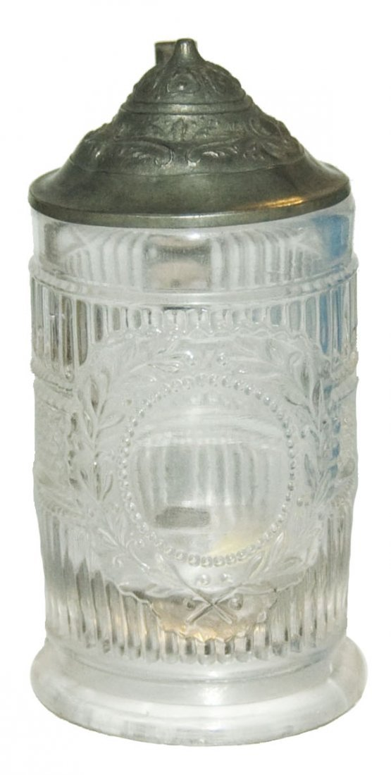 Pressed Glass Ribbed Pattern 1/8L Stein
