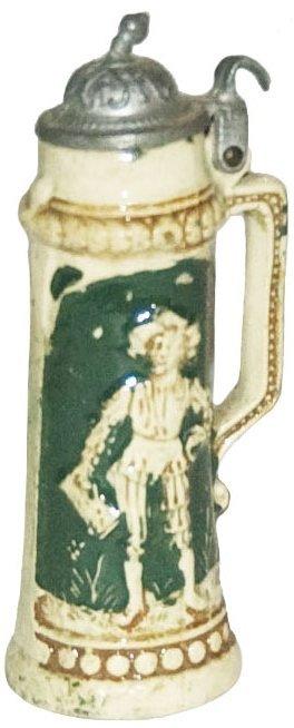 """Mini 3-1/4"""" Cavalier Pottery Stein"""