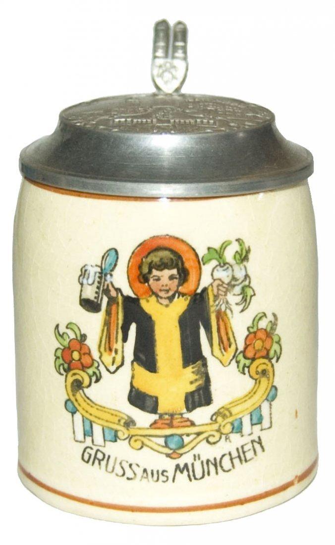 Munich Child 1/8L Pottery Stein