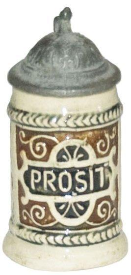 """Prosit"" Mini 2-1/2"" Pottery Stein"