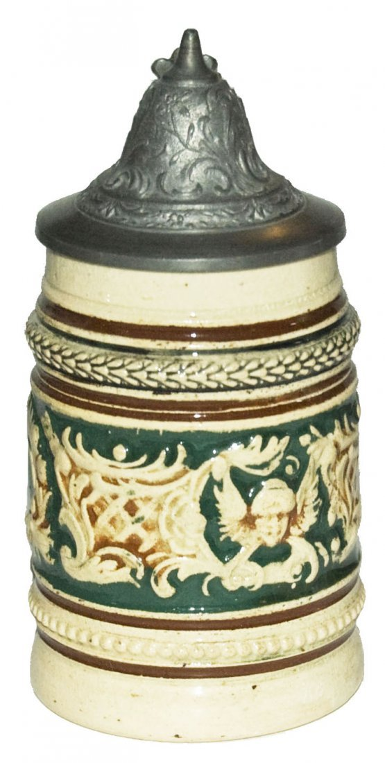 Floral 1/8L Pottery Stein