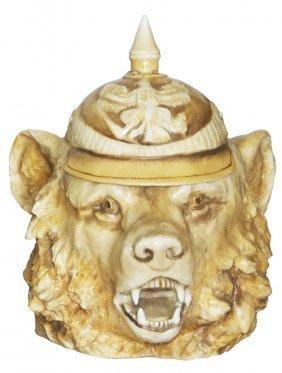 Berlin Bear w Spiked Helmet Schierholz Stein Mint