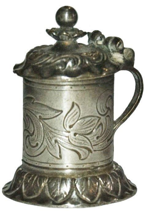 """Engraved Silver Mini Stein 1 1/2"""""""