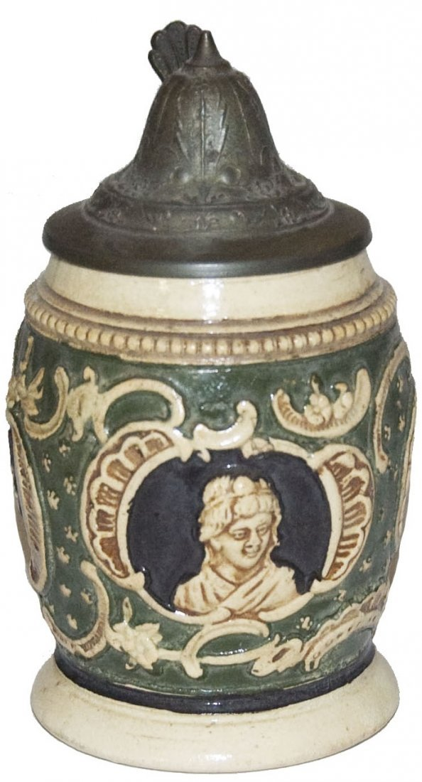 Woman Relief Pottery 1/4L Stein