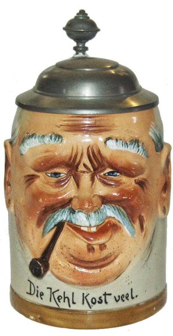 Hanke Man w Pipe Character Stein