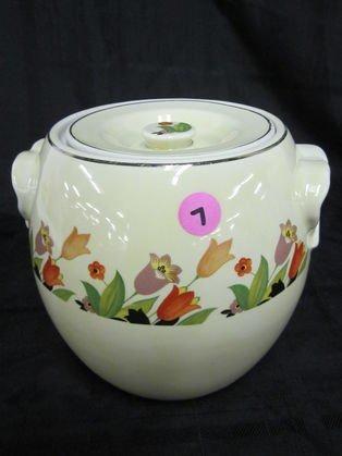 7: Rare Hall Crocus Pretzel Jar with Lid