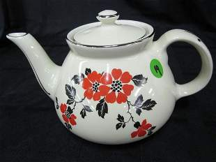 Hall Orange Poppy New York Tea Pot
