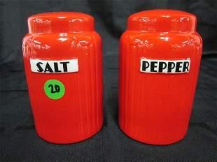 """Hall Red Radiance 5"""" Salt & Pepper Set"""
