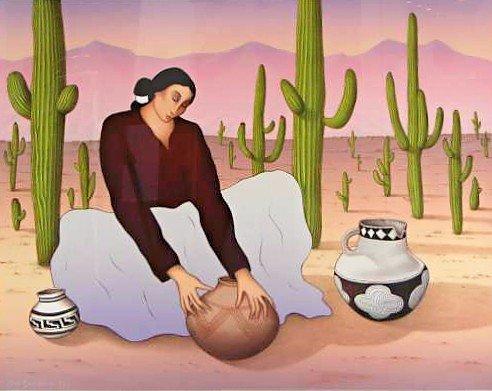 "7: RC Gorman S/N Lithograph ""Saguaro"""