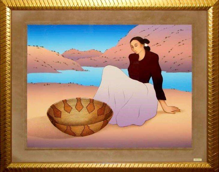"8: RC Gorman S/N Lithograph ""Woman From San Juan"""