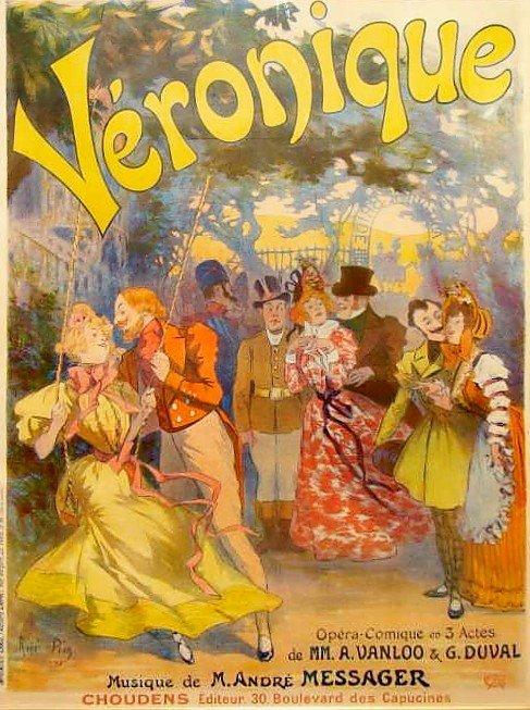 "15: Pean ""Veronique"" 1898 Lithograph Poster"