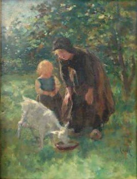 19: Jacobus Kever Oil Painting Ca 1920