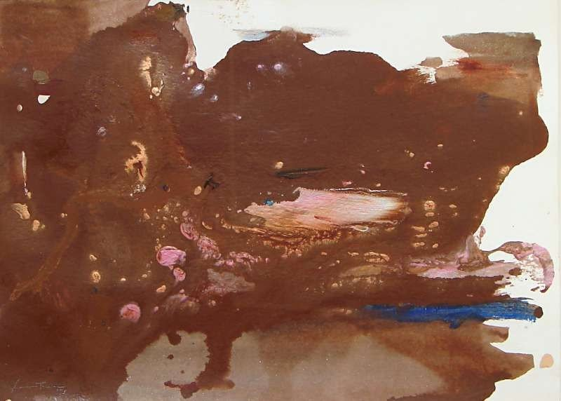 66: Original Helen Frankenthaler Acrylic Painting