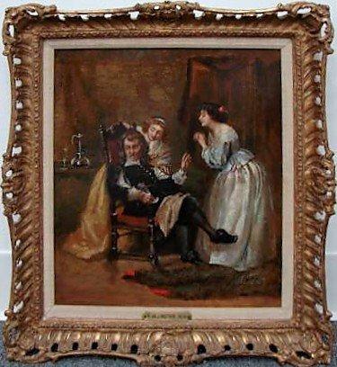 1: Robert Hillingford Oil Painting Ca. 1875