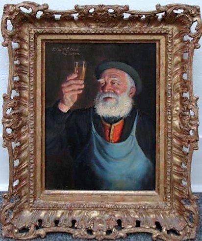 3: Fritz Muller Oil Painting Munchen Ca 1925