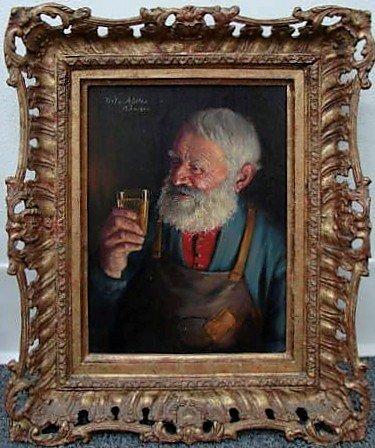 4: Fritz Muller Oil Painting