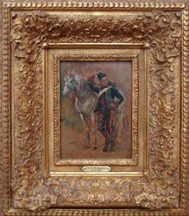 5: JLE Meissonier Oil Painting Ca 1850