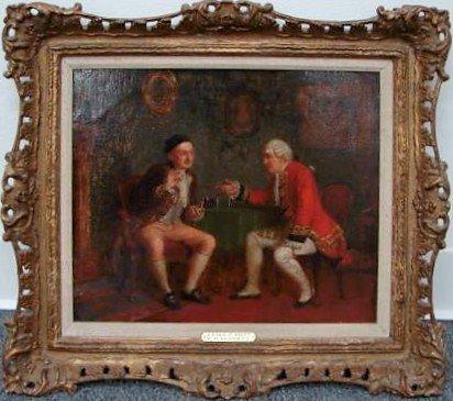 6: William Bennett Oil Painting Ca 1825 Pinch Snuff