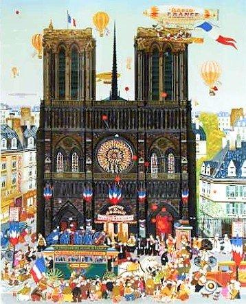 """9: Yamagata """"Notre Dame de Paris"""" Lithograph"""