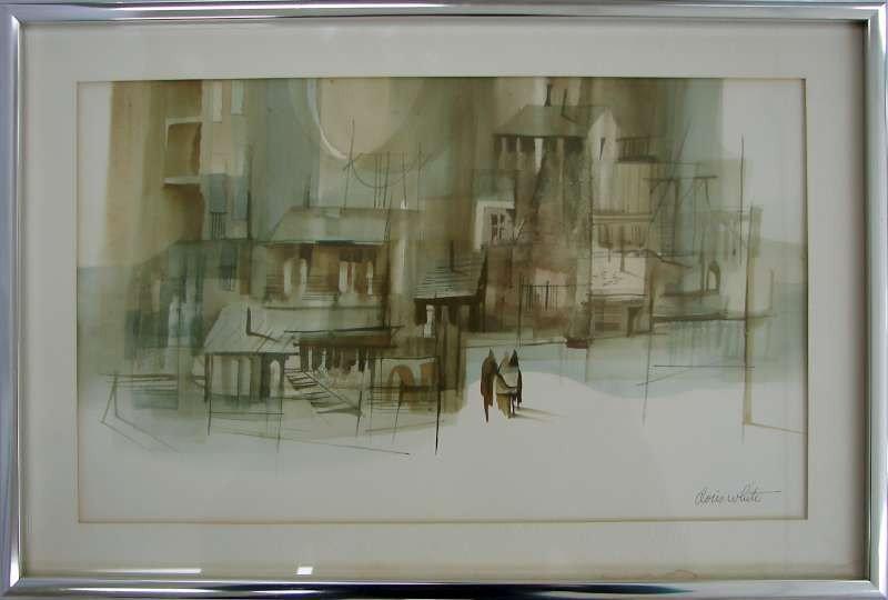 14: Doris White Watercolor