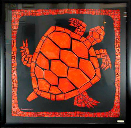 22: Red Turtle On Silk