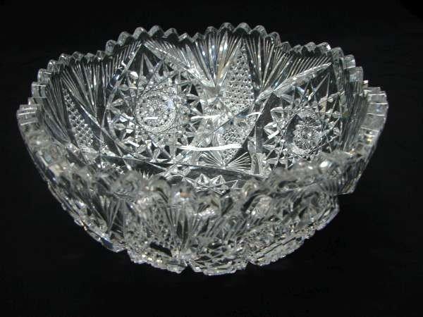 237: ABP Libbey Brilliant Cut Crystal Bowl