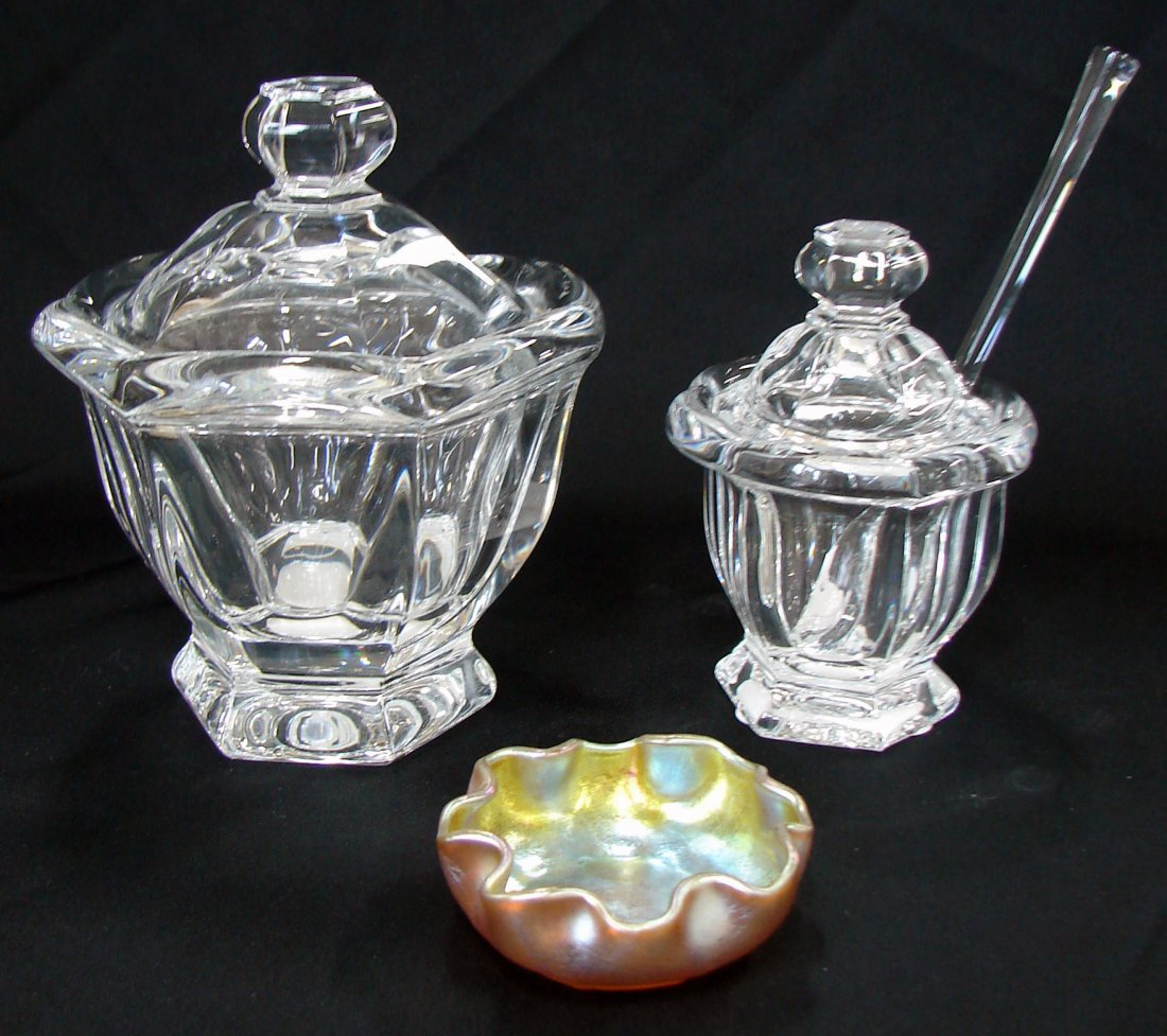 8: Tiffany Dish and Baccarat Dishes