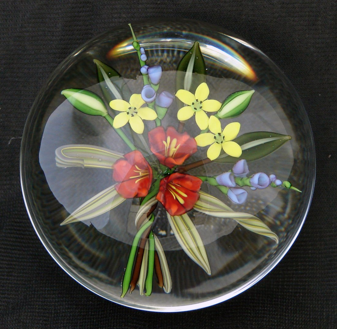 23: Chris Buzzini Paperweight 1987 Flowers