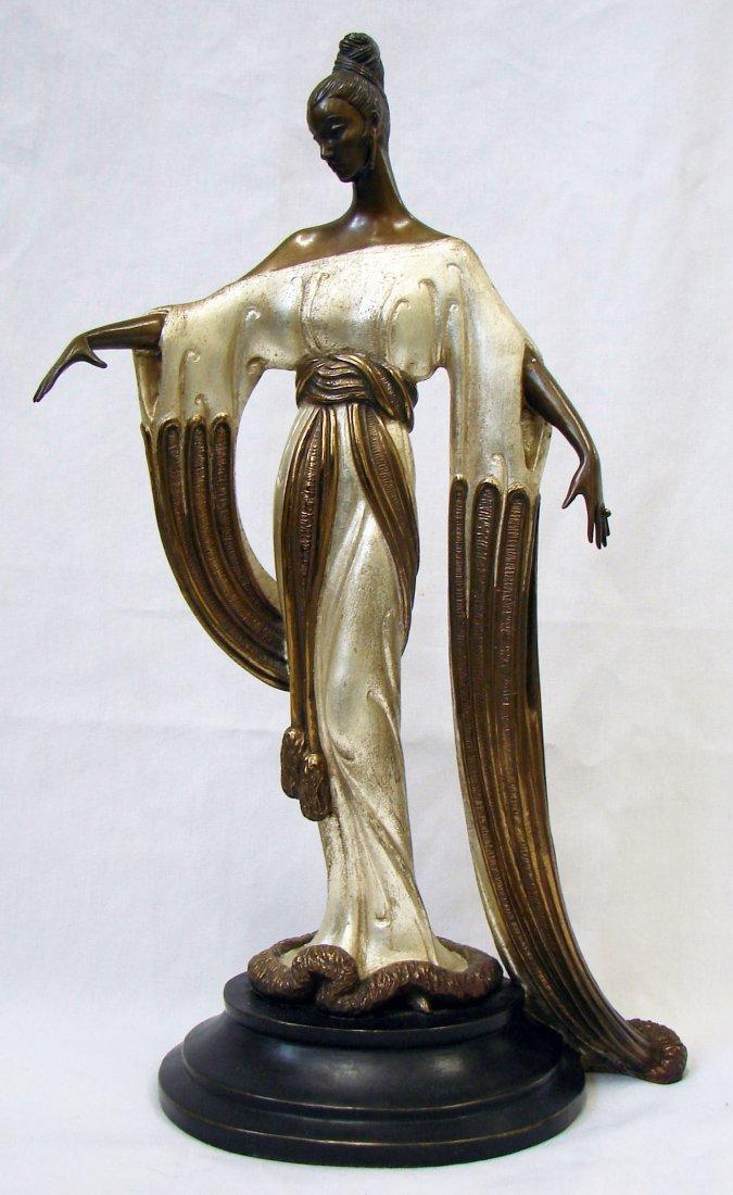 117: Erte Bronze Sculpture Female Figure LE Fine Art Si
