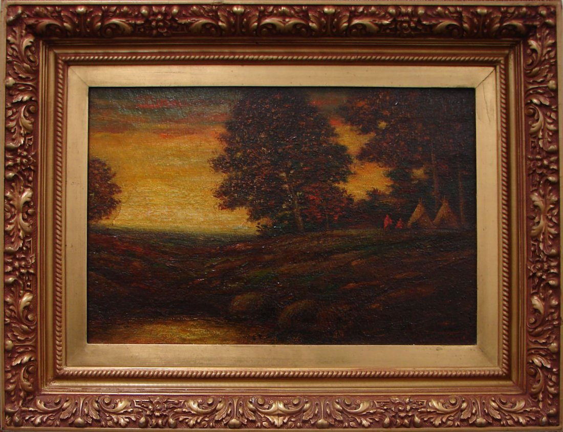 156: Ralph Albert Blakelock Oil Painting Canvas Signed