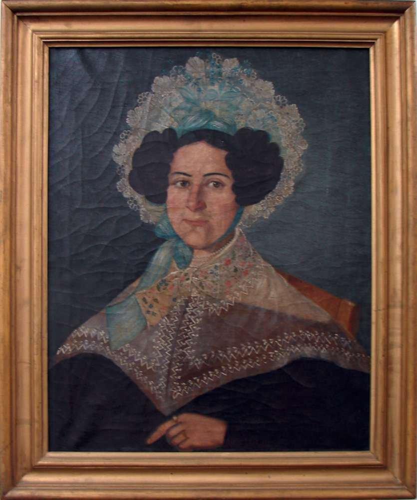 1: Early 19th century American Folk Portrait