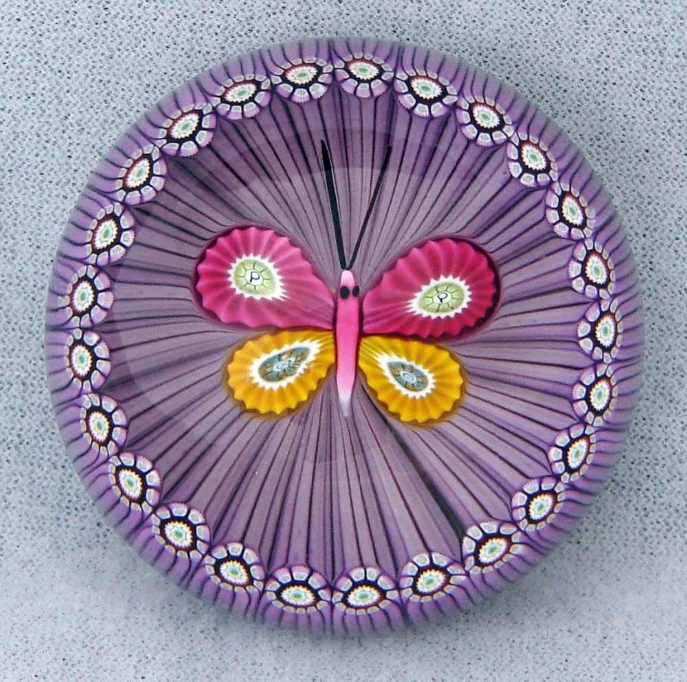 24: Perthshire Modern Paperweight c. 1988 Butterfly