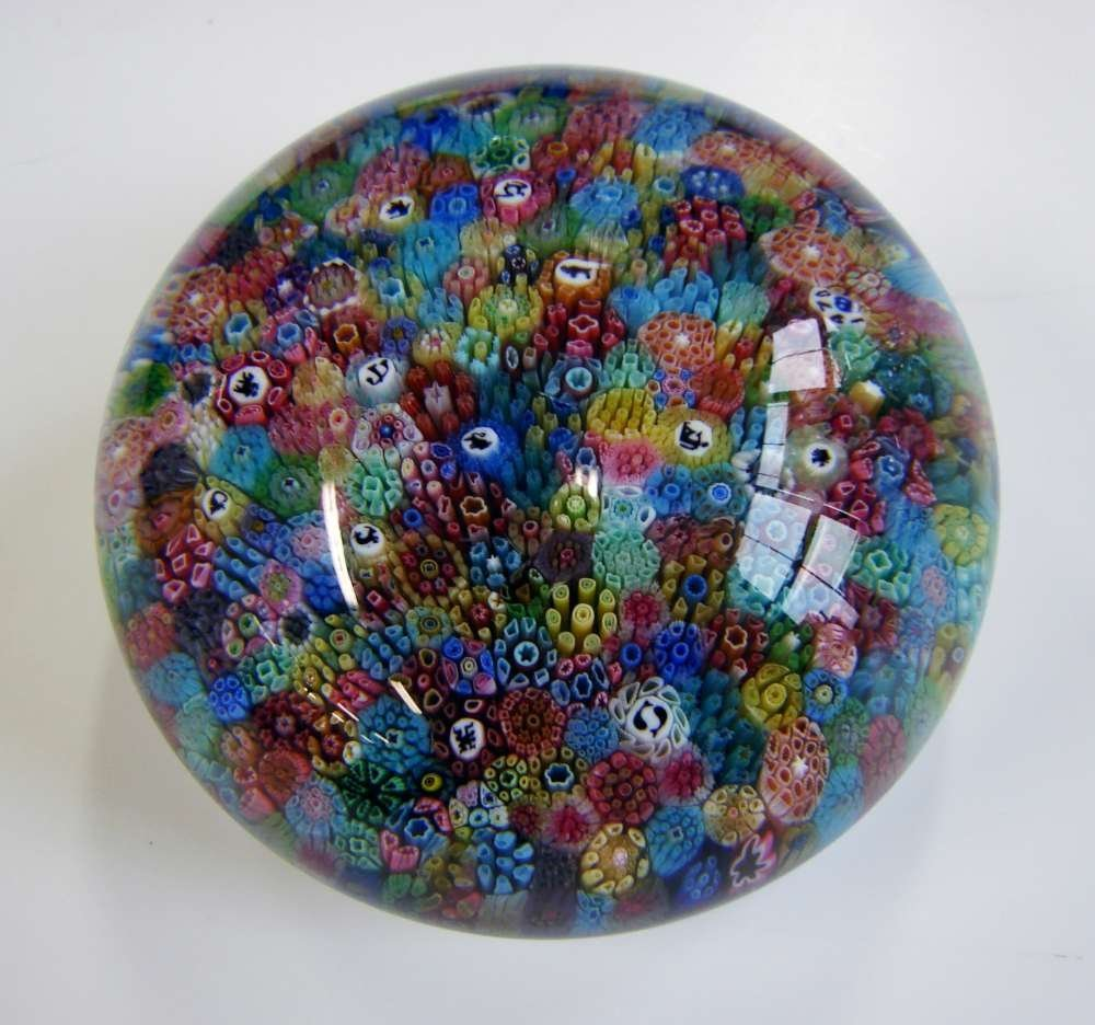 110: Limited Edition Baccarat Millefiori Paperweight