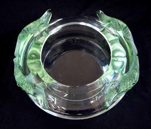 118 Lalique Glass Salamander Vase Signed