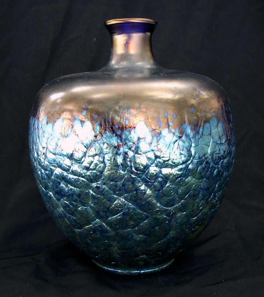126: Cobalt Blue Glass Vase Loetz Phaenomen Gre 377 Lav