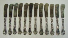 1: 12 Sterling Silver Knives Gorham POPPY Pattern