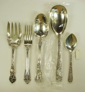 5 Sterling Silver Serving Items Kirk Repousse Watson