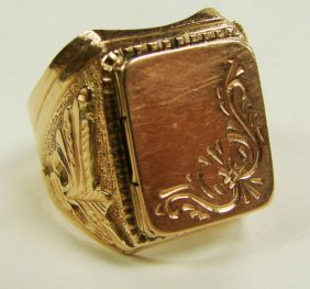 11: 14K Rose Gold Poison Ring Russian