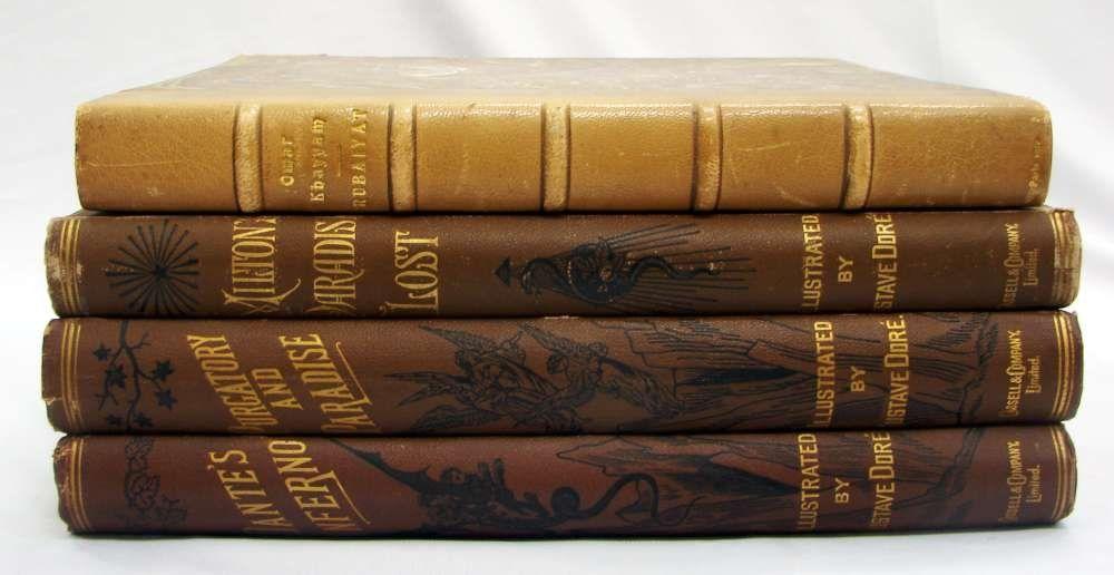 122: Four Book Lot - Gustave Doré Purgatory, Paradise,