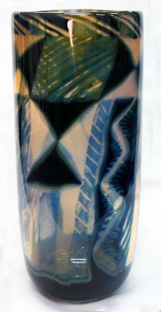 Eva Englund Signed Orrefors GRAAL Vase