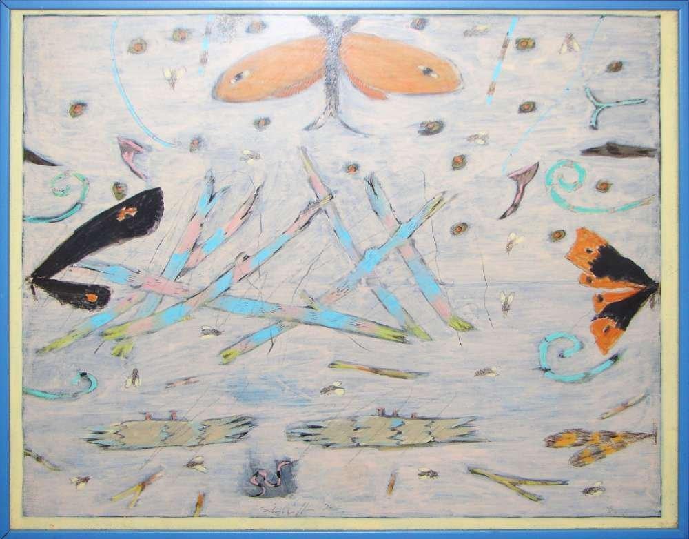 "John Colt 1974 Acrylic Painting ""Summer Mover"""