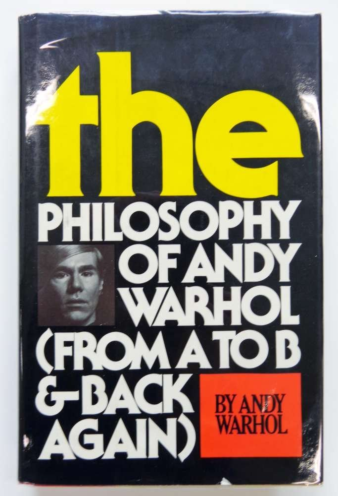 Andy Warhol SIGNED Philosophy Book 1975