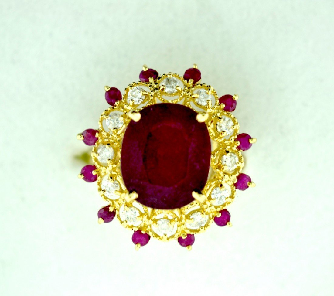Ruby and Diamonds Ring