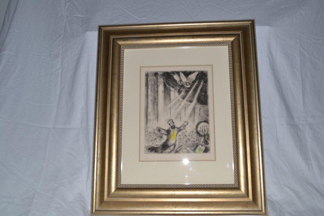 "Original Marc Chagall ""King David"""