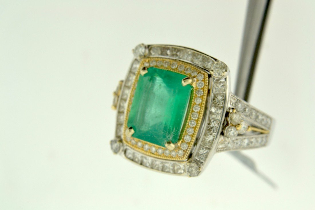 Emerald and Diamond Ring Appraised Value: $16,300